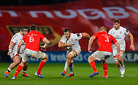 9th November 2019; Thomond Park, Limerick, Munster, Ireland; Guinness Pro 14 Rugby, Munster versus Ulster; Alan O'Connor of Ulster tries to make a break in the gap between Peter O'Mahony (c) and John Ryan of Munster - Editorial Use