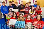 Students at the Gael Colaiste Ciarraí donate presents to Arlington Lodge at the school.<br /> Kneeling l to r: Eibhlinn Ní Chonaill, Iseult Ní Chathasaigh, Caoimhe Ní Chíanáin and Annie Ní Néill.<br /> Back l to r: Oisín Ó Muirí, Jack Ó Súilleabháin, Paddy Walsh, Jedd Ó Mainseíl, Philip Lyons (Arlington Lodge), Aisling Ní Ainiféin, Paris Nic Carthaigh, Eoghan DeStaic, Síle Ní Loinghsigh and Breanndán Brathnach.