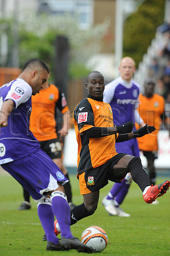 8.5.2010. Barnet Football Ground. Rochdale player chips the ball across the goal. Barnet   1 - 0   Rochdale. Albert Jarrett scored a last-gasp winner for Barnet as the Bees secured their Football League survival.