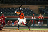 AZL Giants designated hitter Heliot Ramos (31) bats during a game against the AZL Angels on July 10, 2017 at Scottsdale Stadium in Scottsdale, Arizona. AZL Giants defeated the AZL Angels 3-2. (Zachary Lucy/Four Seam Images)