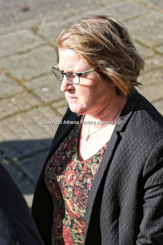 COPY BY TOM BEDFORD<br /> Pictured: Dr Joanne Rowe arrives at Newport Coroner's Court. Monday 26 February 2018<br /> Re: Inquest to be held at Newport Coroner's Court, into the death of five year old Ellie-May Clark who died of an asthma attack, after being refused a GP appointment in Newport, south Wales. <br /> Dr Joanne Rowe refused to see her, on the grounds that her mother was a few minutes late for a booked appointment.<br /> A few hours later, Ellie-May Clark suffered a seizure and died, despite the efforts of an ambulance crew.