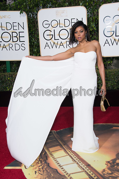 "Taraji P. Henson, Golden Globe nominee for BEST PERFORMANCE BY AN ACTRESS IN A TELEVISION SERIES – DRAMA for her role in ""Empire,"" arrives at the 73rd Annual Golden Globe Awards at the Beverly Hilton in Beverly Hills, CA on Sunday, January 10, 2016. Photo Credit: HFPA/AdMedia"