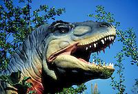 Replica of Tyrannosaurus Rex upper body. Cleveland Ohio, Sea World.