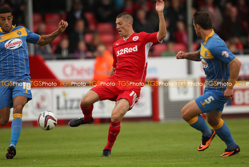 Jamie Proctor of Crawley Town with an attempt on goal - Crawley Town vs Shrewsbury Town - Sky Bet League One Football at the Broadfield Stadium Crawley, West Sussex - 14/09/13 - MANDATORY CREDIT: Simon Roe/TGSPHOTO - Self billing applies where appropriate - 0845 094 6026 - contact@tgsphoto.co.uk - NO UNPAID USE