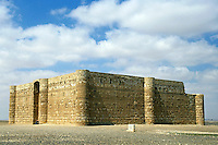 Qasr El Karaneh, a Muslim castle in the desert, Jordan.