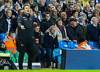 Derby County manager Frank Lampard shouts instructions to his team from the technical area<br /> <br /> Photographer Alex Dodd/CameraSport<br /> <br /> The EFL Sky Bet Championship -  Leeds United v Derby County - Friday 11th January 2019 - Elland Road - Leeds<br /> <br /> World Copyright &copy; 2019 CameraSport. All rights reserved. 43 Linden Ave. Countesthorpe. Leicester. England. LE8 5PG - Tel: +44 (0) 116 277 4147 - admin@camerasport.com - www.camerasport.com