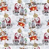 Isabella, GIFT WRAPS, GESCHENKPAPIER, PAPEL DE REGALO, Christmas Santa, Snowman, Weihnachtsmänner, Schneemänner, Papá Noel, muñecos de nieve, paintings+++++,ITKENT1983-ALE,#gp#,#x#