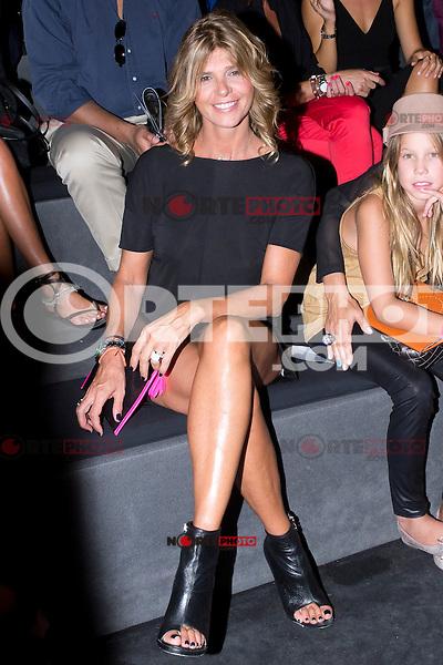 01.09.2012. Celebrities attending the Miguel Palacio fashion show during the Mercedes-Benz Fashion Week Madrid Spring/Summer 2013 at Ifema. In the image Arancha de Benito (Alterphotos/Marta Gonzalez) /NortePhoto.com<br /> <br /> **CREDITO*OBLIGATORIO** <br /> *No*Venta*A*Terceros*<br /> *No*Sale*So*third*<br /> *** No*Se*Permite*Hacer*Archivo**<br /> *No*Sale*So*third*