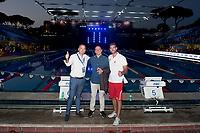 Andrea Di Nino, Costantin Grigorishin Energy Standard, James Gibson coach <br /> day 01  08-08-2017<br /> Energy For Swim<br /> Rome  08 -09  August 2017<br /> Stadio del Nuoto - Foro Italico<br /> Photo Deepbluemedia/Insidefoto