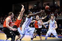 GRONINGEN - Basketbal, Donar - Feyenoord,  beker ,seizoen 2019-2020, 22-01-2020,  overgespeelde bekerwedstrijd, Donar speler Donte Thomas probeert de bal te onderscheppen