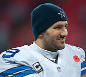 09.11.2014.  London, England.  NFL International Series. Jacksonville Jaguars versus Dallas Cowboys. Dallas Cowboys' Quarterback Tony Romo (#9)