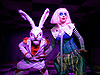 Alice's Adventures Underground at The Vaults, Waterloo, London, Great Britain <br /> press photocall <br /> 20th April 2017 <br /> <br /> <br /> <br /> <br /> Alice M Richards as Alice <br /> <br /> <br /> Rhys Owen as Rabbit <br /> <br /> <br /> <br /> <br /> <br /> Photograph by Elliott Franks <br /> Image licensed to Elliott Franks Photography Services