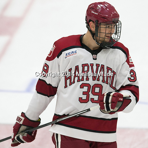 Brian Hart (Harvard - 39) - The Harvard University Crimson tied the visiting Dartmouth College Big Green 3-3 in both team's first game of the season on Saturday, November 1, 2014, at Bright-Landry Hockey Center in Cambridge, Massachusetts.