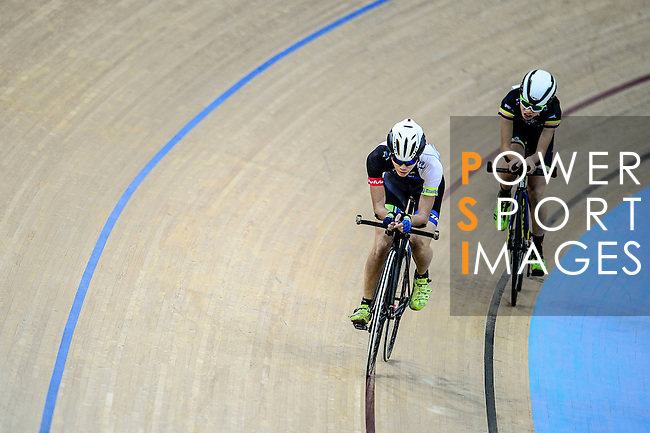 Wong Cheuk Hei of team CMS (l) and Lau Joseph of team X SPEED (r) during the Indiviual Pursuit Youth Qualifying (3KM) Track Cycling Race 2016-17 Series 3 at the Hong Kong Velodrome on February 4, 2017 in Hong Kong, China. Photo by Marcio Rodrigo Machado / Power Sport Images