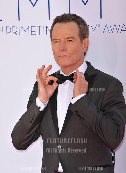 Bryan Cranston at the 64th Primetime Emmy Awards at the Nokia Theatre LA Live..September 23, 2012  Los Angeles, CA.Picture: Paul Smith / Featureflash