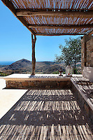 hill view from the patio<br /> <br /> Pavlou Firigos&rsquo; house, located at the eastern end of Kythira island in Greece, was built to the standards of bioclimatic architecture with respect for the landscape and preserving the local traditional settlement.