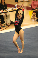 8 April 2006: Stanford's Nicole Ourada during the NCAA West Regional women's gymnastics championships at Maples Pavilion in Stanford, CA.