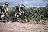 Christopher Juul Jensen (DEN/Mitchelton Scott) riding a gravel section<br /> <br /> Antwerp Port Epic 2019 <br /> One Day Race: Antwerp > Antwerp 187km<br /> <br /> ©kramon