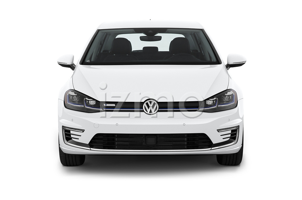 Car photography straight front view of a 2019 Volkswagen e-Golf SEL Premium 5 Door Hatchback