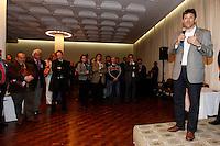 SAO PAULO,  25 DE JUNHO DE 2012. COQUETEL DA COMUNIDADE JURIDICA. O candidato a prefeitura de São Paulo pelo PT, Fernando Haddad , durante coquetel da Comunidade Jurídica paulistana na Casa de Portugal em São Paulo. FOTO: ADRIANA SPACA - BRAZIL PHOTO PRESS