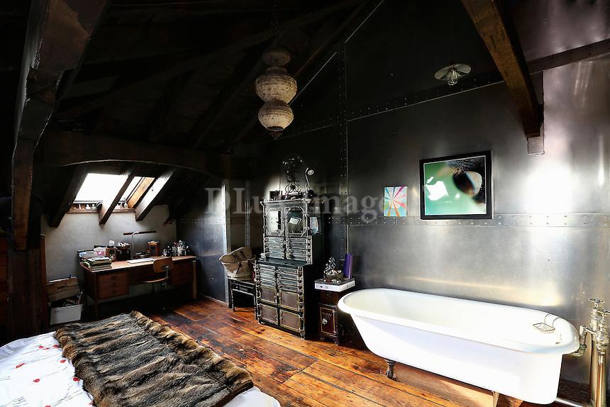 wooden attic