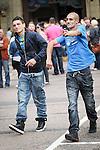 © Joel Goodman - 07973 332324 . 31 August 2013 . Rochdale , UK . The lads arrive . The Rochdale Feel Good Festival . Photo credit : Joel Goodman