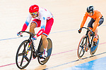 Denis Dmitriev of Russia and Harrie Lavreysen of the Netherlands compete in the Men's Sprint Finals - 1st Race during the 2017 UCI Track Cycling World Championships on 15 April 2017, in Hong Kong Velodrome, Hong Kong, China. Photo by Marcio Rodrigo Machado / Power Sport Images