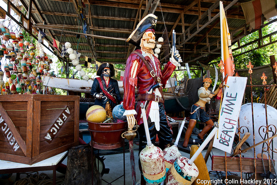 Find all things nautical at the Tin Shed, Apalachicola's shop to decorate a beach house or bring a bit of the water life home..COLIN HACKLEY PHOTO