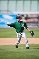 Clinton LumberKings shortstop Rayder Ascanio (13) during practice before a game against the West Michigan Whitecaps on May 3, 2017 at Fifth Third Ballpark in Comstock Park, Michigan.  West Michigan defeated Clinton 3-2.  (Mike Janes/Four Seam Images)