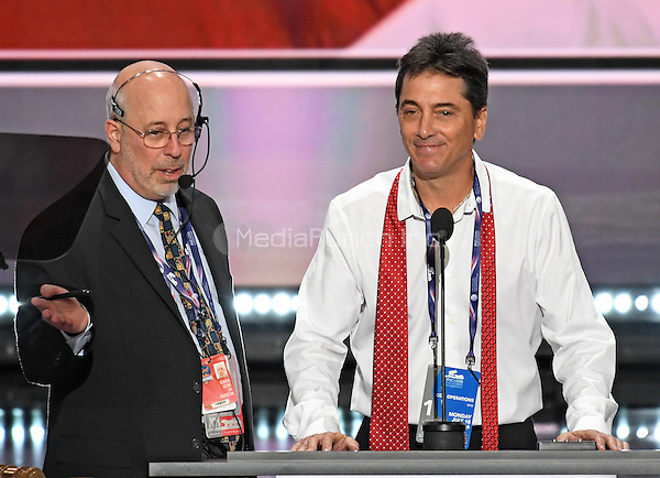 Scott Baio participates in a rehearsal prior to speaking at the 2016 Republican National Convention held at the Quicken Loans Arena in Cleveland, Ohio on Monday, July 18, 2016.<br /> Credit: Ron Sachs / CNP/MediaPunch<br /> (RESTRICTION: NO New York or New Jersey Newspapers or newspapers within a 75 mile radius of New York City)