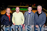 David Browne, Keith Cummins, Shane Hickey and Billy Hickey Killarney at the Snooker final in the INEC on Sunday night....