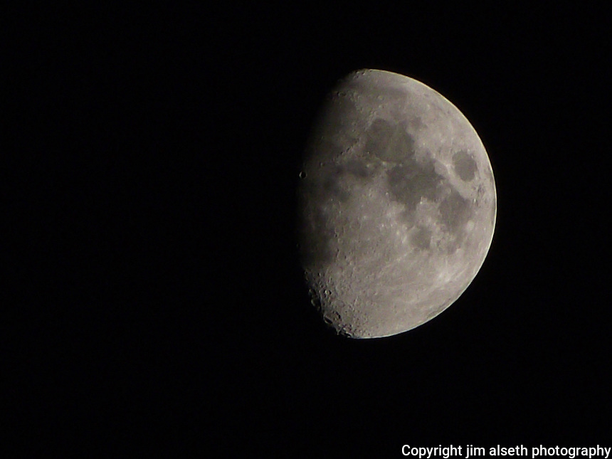 A collection of lunar images spanning the various phases from waxing to waning...