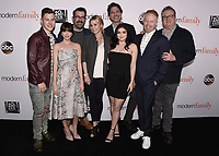 "HOLLYWOOD, CA - APRIL 16:  Nolan Gould, Sarah Hyland, Ty Burrell, Julie Bowen, creator Steve Levitan, Ariel Winter, Jesse Tyler Ferguson and Eric Stonestreet at a For Your Consideration event for ""Modern Family"" at Avalon Hollywood on April 16, 2018 in Hollywood, California. (Photo by Scott Kirkland/Fox/PictureGroup)"