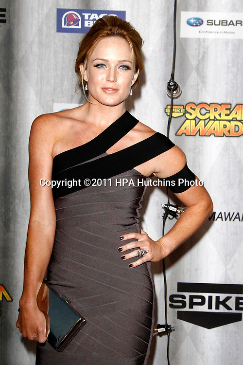 LOS ANGELES - OCT 15:  Caity Lotz at the Scream Awards 2011 at the Universal Studios on October 15, 2011 in Los Angeles, CA