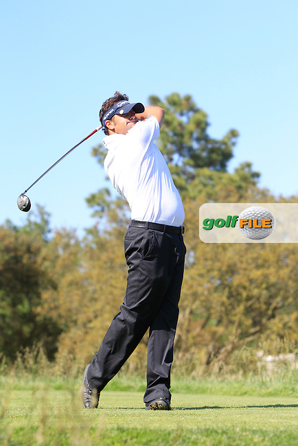 David Gomez Aguera (Am) on the 10th tee during the Pro-Am of The Open De Espana at The PGA Catalunya Resort on Wednesday 14th May 2014.<br /> Picture:  Thos Caffrey / www.golffile.ie