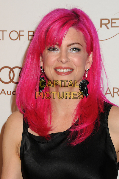 Tarina Tarantino.5th Annual Art Of Elysium Heaven Gala held at Union Station, Los Angeles, California, USA, 14th January 2012..arrivals portrait headshot dyed pink hair  earrings fan  black sleeveless .CAP/ADM/BP.©Byron Purvis/AdMedia/Capital Pictures.