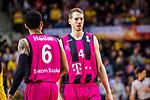 Nate LINHART (#4 Telekom Baskets Bonn) \Olivier HANLAN (#6 Telekom Baskets Bonn) \ beim Spiel in der Basketball Bundesliga, MHP Riesen Ludwigsburg - Telekom Baskets Bonn.<br /> <br /> Foto &copy; PIX-Sportfotos *** Foto ist honorarpflichtig! *** Auf Anfrage in hoeherer Qualitaet/Aufloesung. Belegexemplar erbeten. Veroeffentlichung ausschliesslich fuer journalistisch-publizistische Zwecke. For editorial use only.