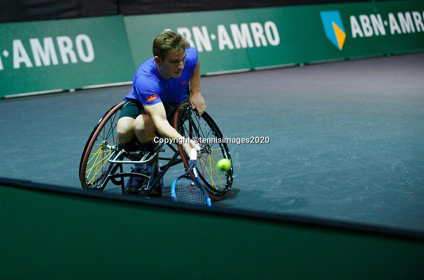 Rotterdam, The Netherlands, 11 Februari 2020, ABNAMRO World Tennis Tournament, Ahoy, <br /> Wheelchair tennis: <br /> Photo: www.tennisimages.com