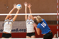 SAN ANTONIO, TX - NOVEMBER 19, 2006: The University of Texas at Arlington Mavericks face off against the Stephen F. Austin State University Ladyjacks in the Southland Conference Volleyball Tournament Final held at the UTSA Convocation Center on the campus of the University of Texas at San Antonio. (Photo by Jeff Huehn)
