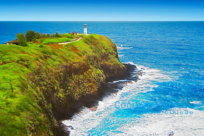 Kilauea Lighthouse, Kilauea Point National Wildlife Refuge, Kauai, Hawaii, Pacific Ocean