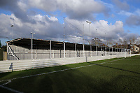General view of the terrace behind the goal during Walthamstow vs Hashtag United, Essex Senior League Football at Wadham Lodge Sports Ground on 30th November 2019