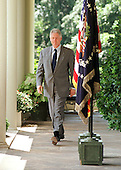 "United States President Bill Clinton walks from the Oval Office to the Rose Garden of the White House in Washington, D.C. to make a statement on debt reduction on August 4, 1999.  Clinton vowed to veto the GOP tax cut plan calling it ""risky and plainly wrong for America""..Credit: Ron Sachs / CNP"
