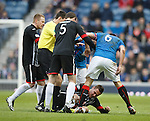 Lee McCulloch aggro with Stephen Husband