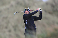 Max Kennedy (Royal Dublin) on the 13th tee during Round 2 of the Ulster Boys Championship at Portrush Golf Club, Portrush, Co. Antrim on the Valley course on Wednesday 31st Oct 2018.<br /> Picture:  Thos Caffrey / www.golffile.ie<br /> <br /> All photo usage must carry mandatory copyright credit (&copy; Golffile | Thos Caffrey)
