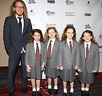(L-R) Writer/composer Tim Minchin and actresses Bailey Ryon, Milly Shapiro, Oona Laurence, and Sophia Gennusa  attending the 2013 Actors Fund Annual Gala at the Mariott Marquis Hotel in New York on 4/29/2013...