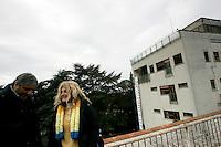 I ricercatori precari dell'ISPRA, Istituto Superiore per la Protezione e la Ricerca Ambientale, protestano contro i tagli alla ricerca, sul tetto della sede dell'istituto, a Roma, 15 gennaio 2010..UPDATE IMAGES PRESS/Riccardo De Luca