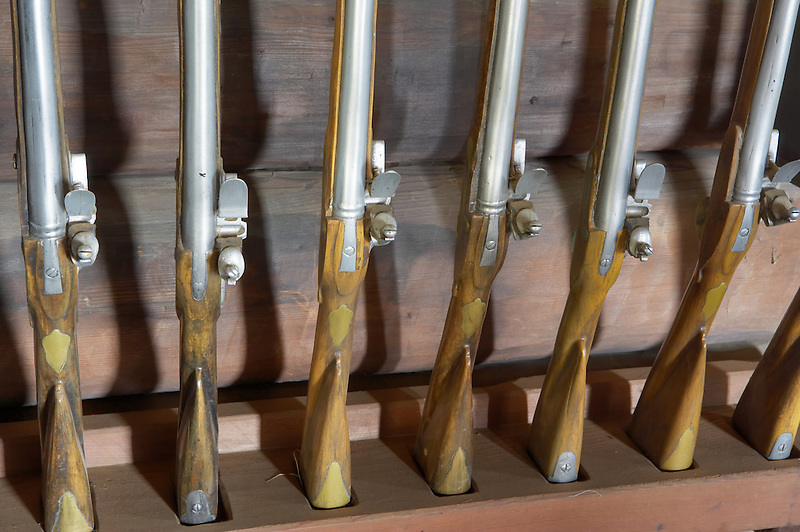 Muskets at Fort Ross State Park. California