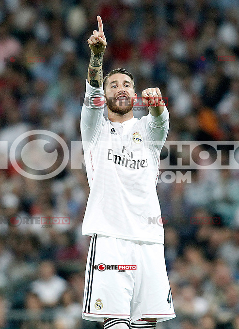 Real Madrid's Sergio Ramos during Champions League 2014/2015 Semi-finals 2nd leg match.May 13,2015. (ALTERPHOTOS/Acero) /NortePhoto.COM