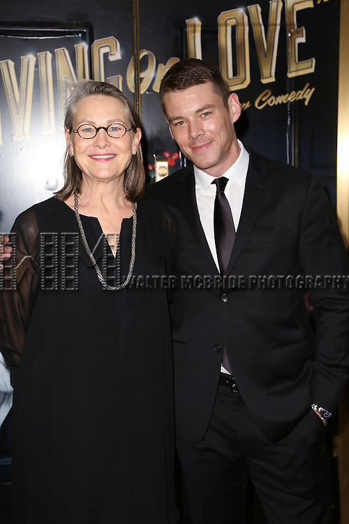Cherry Jones and Brian J. Smith attends the Broadway Opening Night Performance of  'Living on Love'  at  The Longacre Theatre on April 20, 2015 in New York City.
