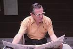 Dr. William Beach reading paper in FOrestville, CA